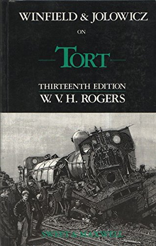 9780421376304: Winfield And Jolowicz on Tort - Thirteenth Edition