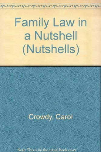 9780421390409: Family Law in a Nutshell (Nutshells S.)
