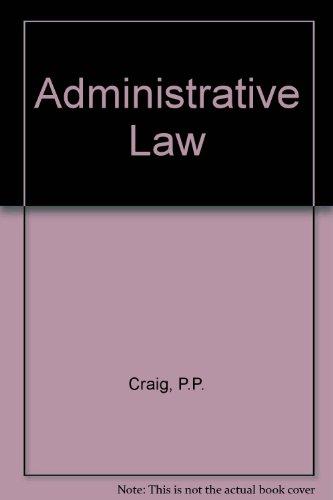 9780421406803: Administrative Law