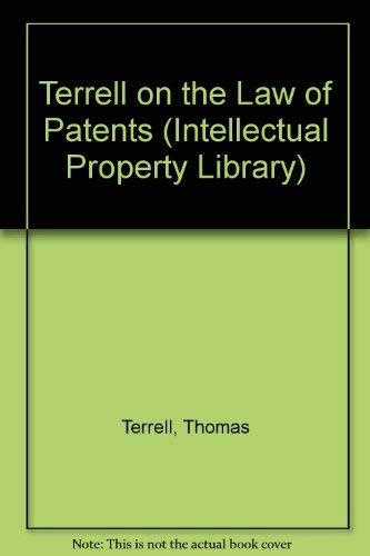 9780421408906: Terrell on the Law of Patents (Intellectual Property Library)