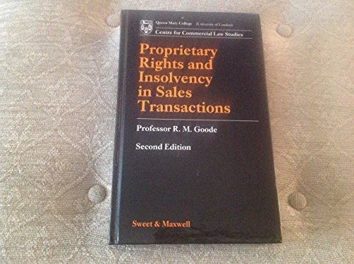 9780421410107: Proprietary Rights and Insolvency in Sales Transactions