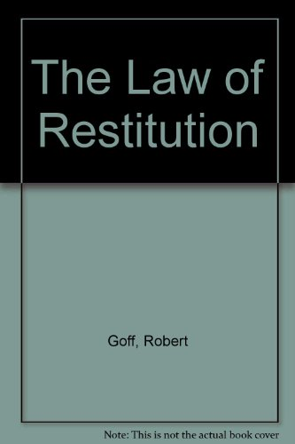 9780421425606: The Law of Restitution