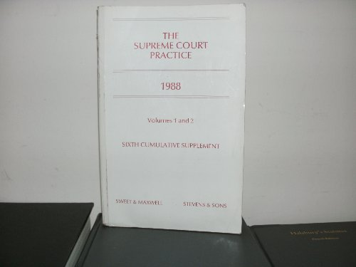 9780421428508: The Supreme Court Practice 1988: 6th Cumulative Supplement