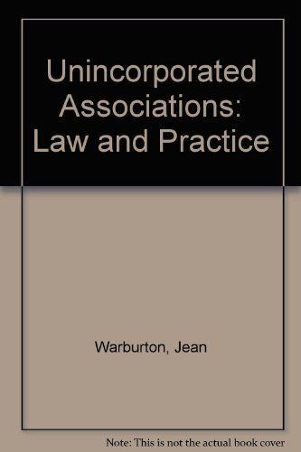 9780421444409: Unincorporated Associations: Law and Practice