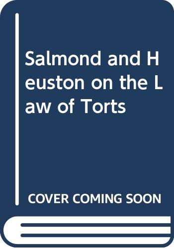 9780421459809: Salmond and Heuston on the Law of Torts