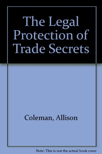9780421471702: The Legal Protection of Trade Secrets
