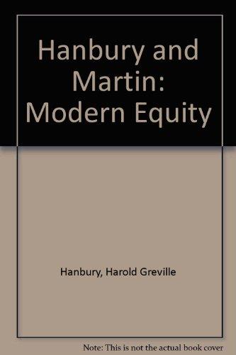 9780421482500: Hanbury and Martin: Modern Equity