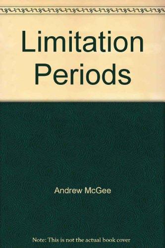 9780421485600: Limitation Periods