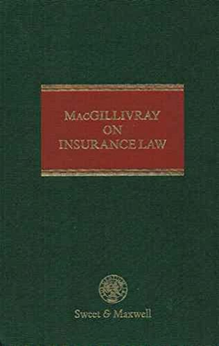 9780421504806: Macgillivray on Insurance Law: Insurance Practitioner's Library