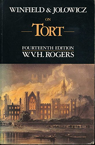 9780421508507: Winfield and Jolowicz on Tort