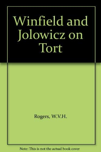 9780421508606: Winfield and Jolowicz on Tort