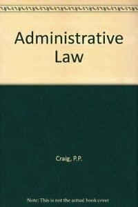 9780421510005: Administrative Law