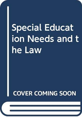9780421510302: Special Education Needs and the Law