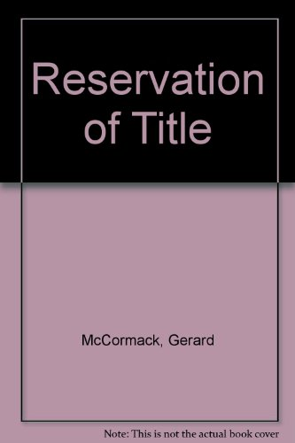 9780421511309: Reservation of Title