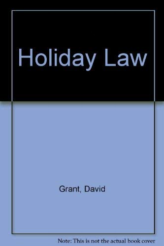 9780421513402: Holiday Law