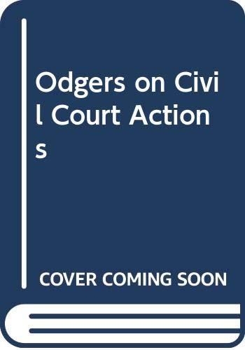 9780421513907: Odgers on Civil Court Actions