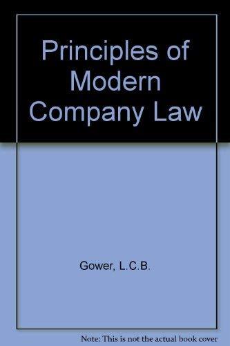 9780421524705: Principles of Modern Company Law