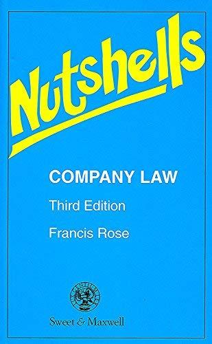9780421533301: Company Law (Nutshell)