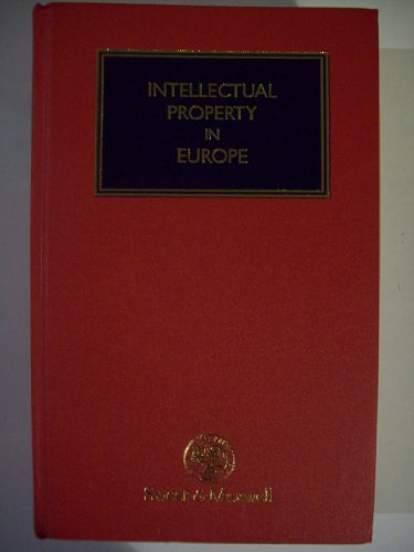 9780421542303: Intellectual Property in Europe