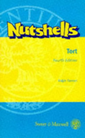 9780421548305: Tort Law in a Nutshell (Nutshells)