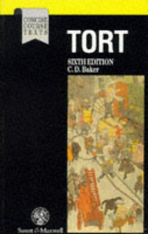 9780421554801: Baker: Tort (Concise Course Texts)