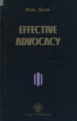 9780421566507: Effective Advocacy (Legal Skills)