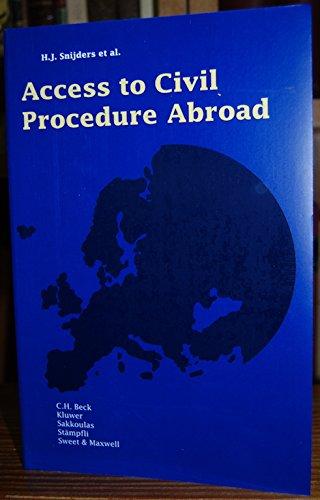 9780421569409: Access to Civil Procedure Abroad