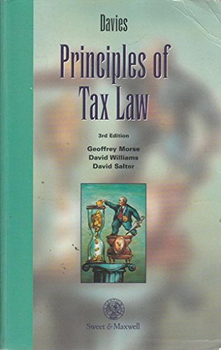 9780421570900: Principles of Tax Law