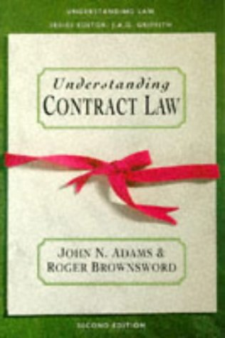 Understanding Contract Law (Understanding Law): Brownsword, Professor Roger,