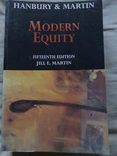 HANBURY AND MARTIN: MODERN EQUITY.: Martin, Jill E.