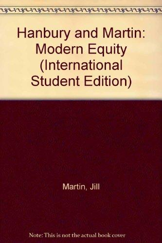 9780421578708: Hanbury and Martin: Modern Equity (International Student Edition)