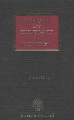 Copinger and Skone James on Copyright, 2 Volumes. Fourteenth Edition. With First Supplement