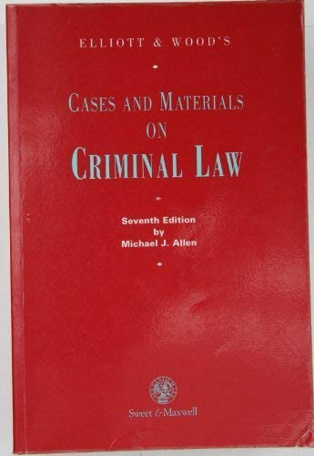 9780421599307: Cases and Materials on Criminal Law