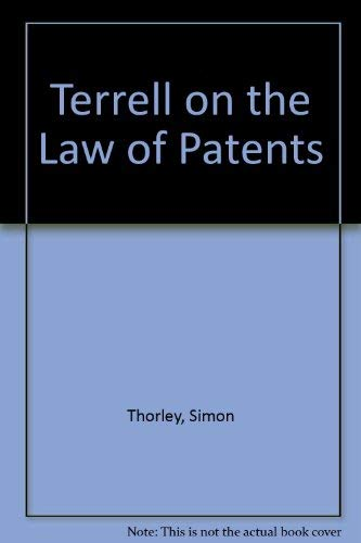 9780421624702: Terrell on the Law of Patents