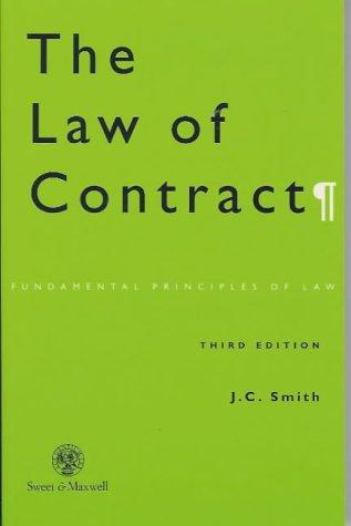 9780421634800: Contract (Fundamental Principles of Law)
