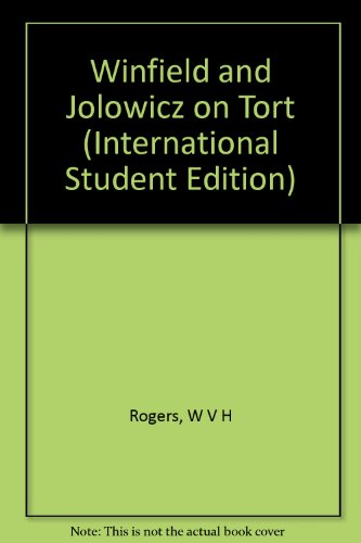 9780421650800: Winfield and Jolowicz on Tort (International Student Edition)