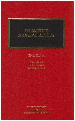 9780421690301: De Smith's Judicial Review