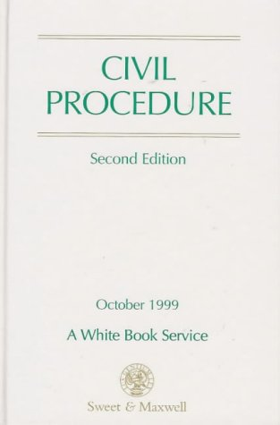 9780421692602: Civil Procedure: Part of the White Book Service