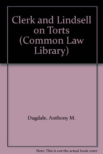 9780421693401: Clerk & Lindsell on Torts (The Common law library)
