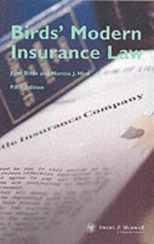 9780421716704: Birds Modern Insurance Law