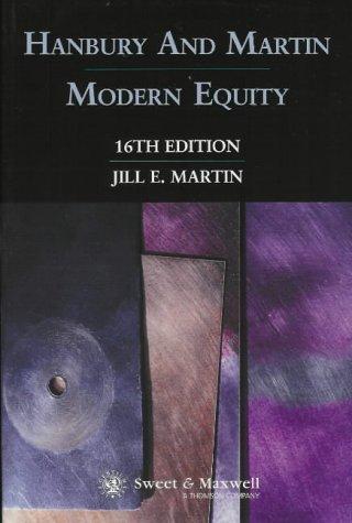 9780421716803: Hanbury and Martin: Modern Equity