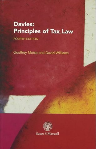 9780421722705: Davies: Principles of Tax Law