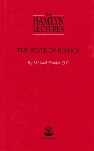 9780421729704: The State of Justice (Hamlyn Lectures)