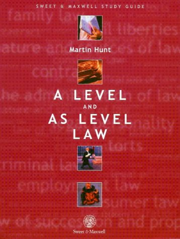 9780421738102: A Level and AS Level Law