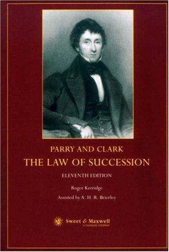 9780421741102: Parry and Clark: The Law of Succession