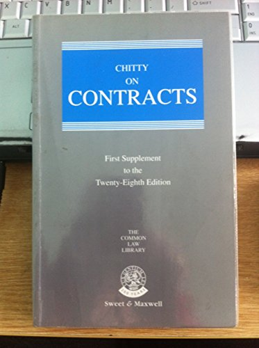 Chitty on Contracts: 1st Supplement (Common Law Library): Chitty, Joseph