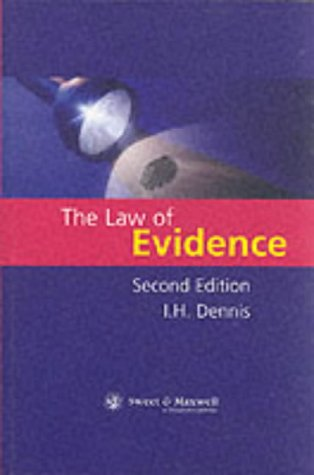 9780421742000: The Law of Evidence