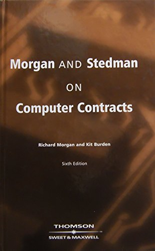 9780421742505: Morgan and Steadman on Computer Contracts
