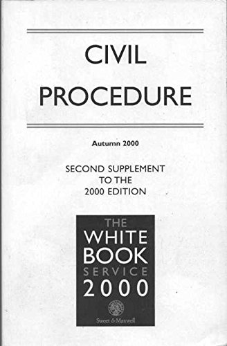 9780421742703: The White Book Service 2000: Civil Procedure Vols 1&2 (Sweet & Maxwell Connections)