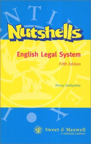 9780421742802: English Legal System (Nutshells)